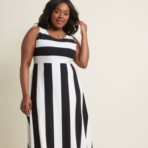 Modcloth Top of the Byline Maxi Dress